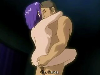 Sexy With Lusty Purple Haired Hentai Slut